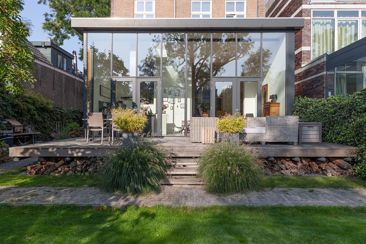 Aanbouw D+P exterieur 3 aanzicht tuin