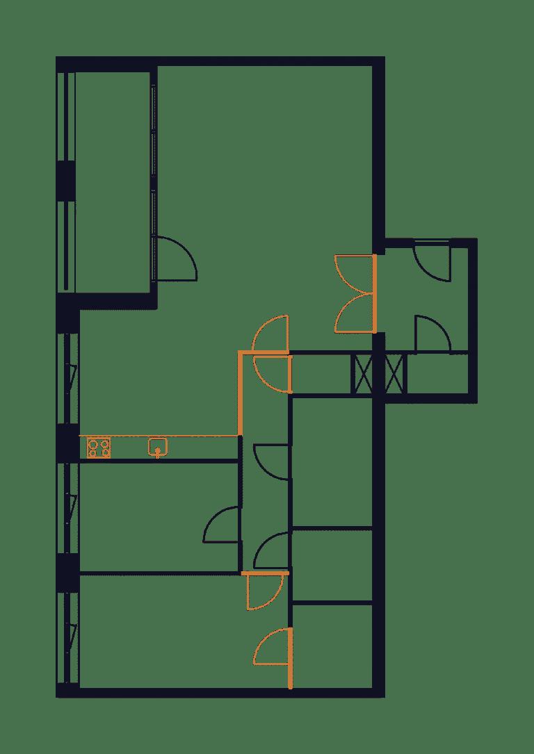 Appartement_Mullerkade_verbouwing_interieur_plattegrond_01