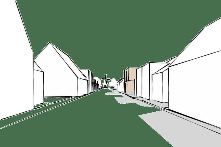Appartementen Benthuizen 4 schets exterieur