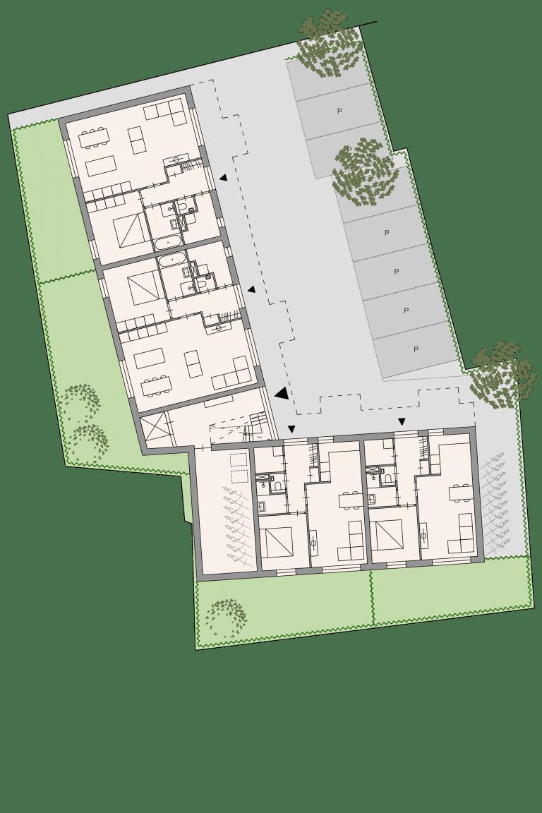 Appartementen Benthuizen plattegrond seniorenwoning begane grond