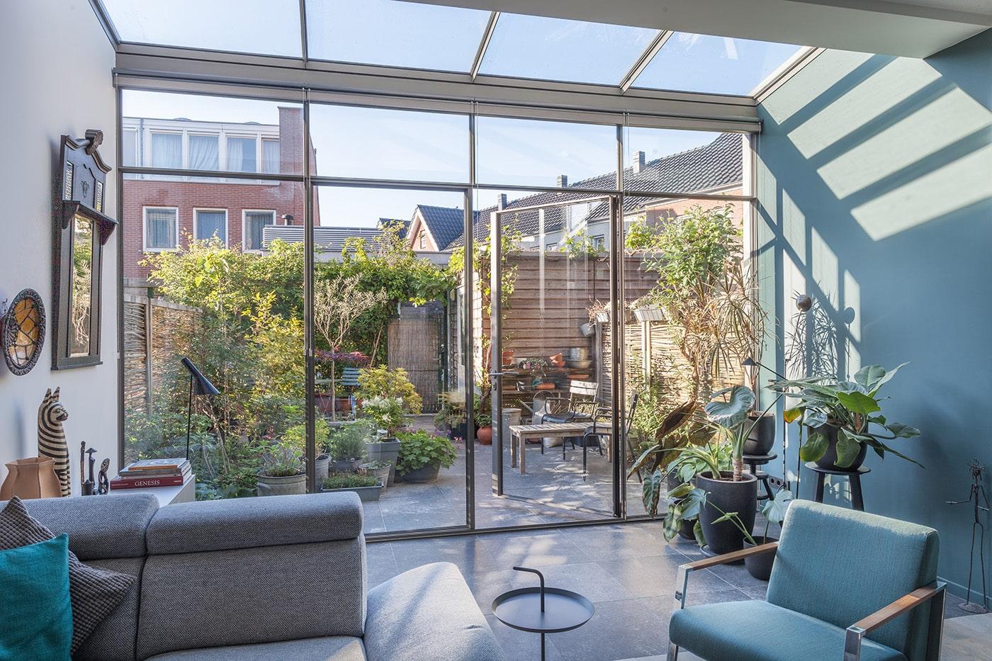 Glazen aanbouw Rotterdam interieur 3