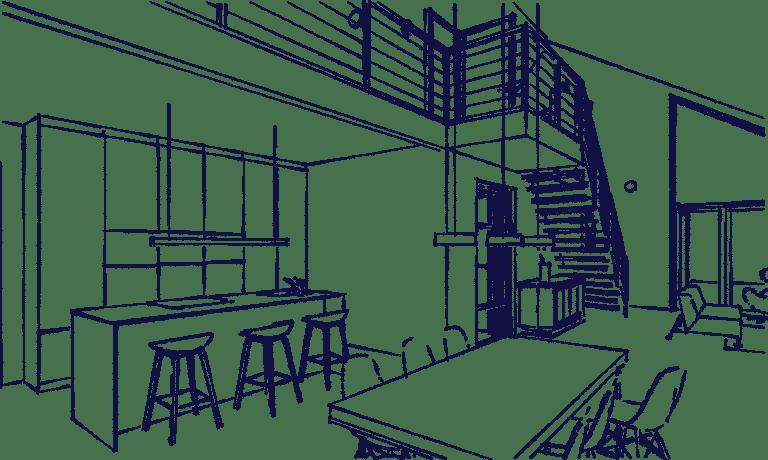 Schuurwoning Heiloo interieur eetkamer