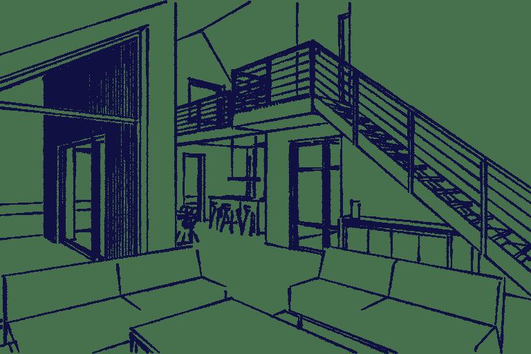 Schuurwoning Heiloo interieur woonkamer