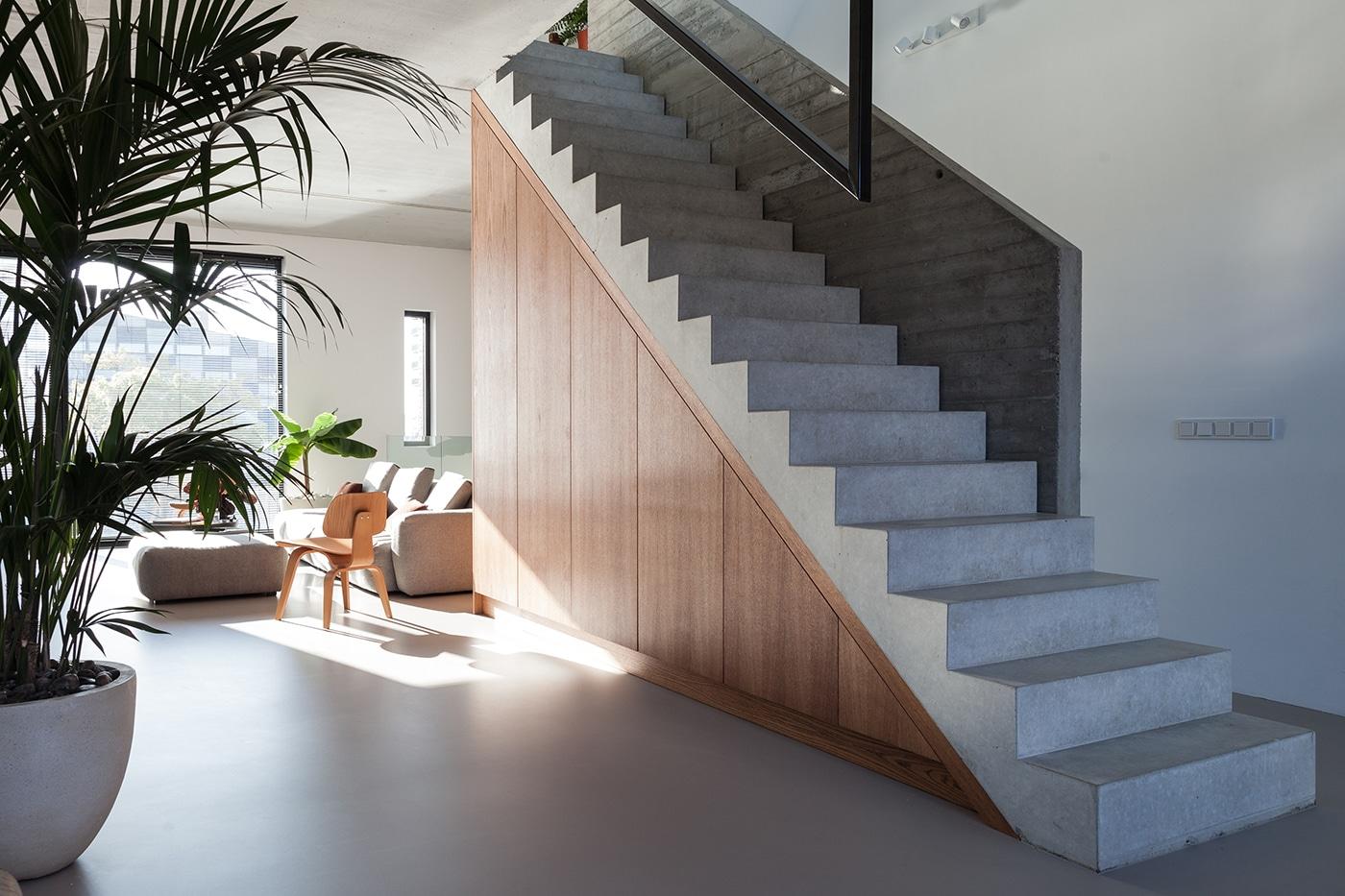 Stadsloft R+F interieur 1 trap woonkamer