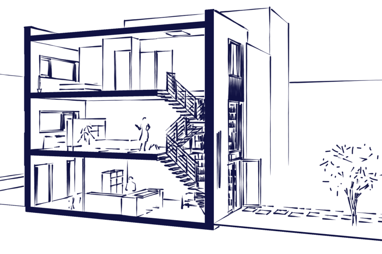 Stadswoning Create@Mullerpier kavel 27 interieur schets