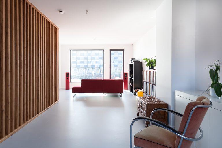 Stadswoning R+M Mullerpier interieur woonkamer