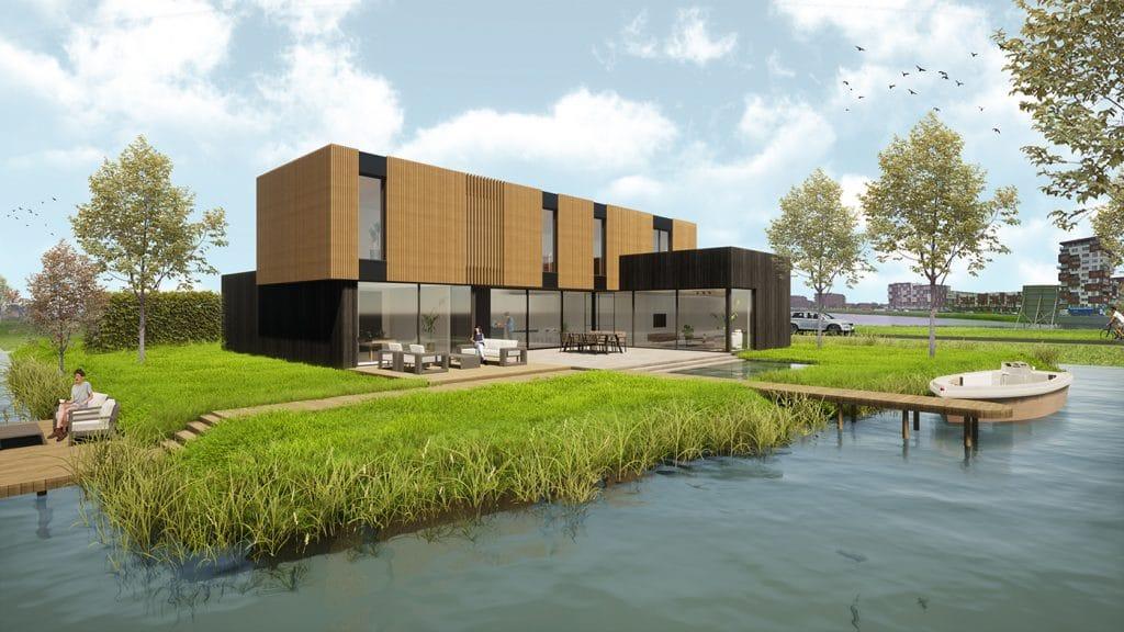 Watervilla_Nesselande_moderne_villa_exterieur_impressie